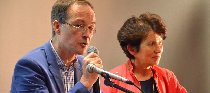 Anne-Claire et Bernard Noirot-Nérin lors d'une conférence avec la Fondation OCH