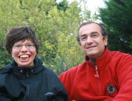 Emmanuel Belluteau et sa fille Armelle