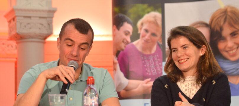 Benoit et Marie-Axelle Clermont lors de leur conférence avec l'OCH